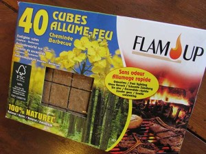Fire Lighters in French: Cubes Allume-Feu